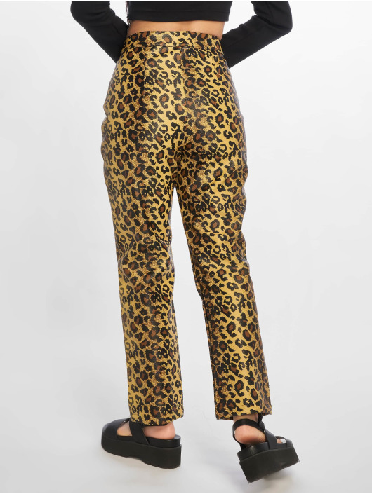 The Ragged Priest Chino pants Leopard PU Motor brown