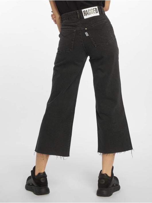 The Ragged Priest High waist jeans Grip Cropped Skater svart