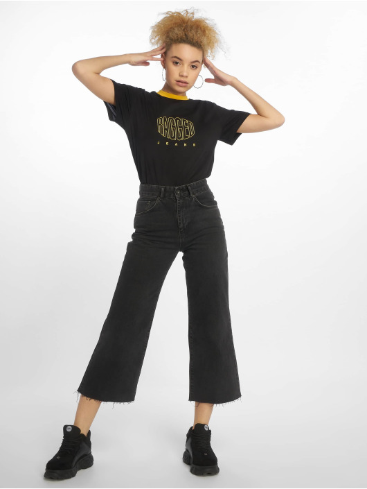 The Ragged Priest High Waisted Jeans Grip Cropped Skater èierna
