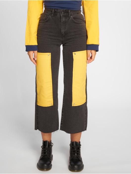 The Ragged Priest High Waisted Jeans Scrap šedá