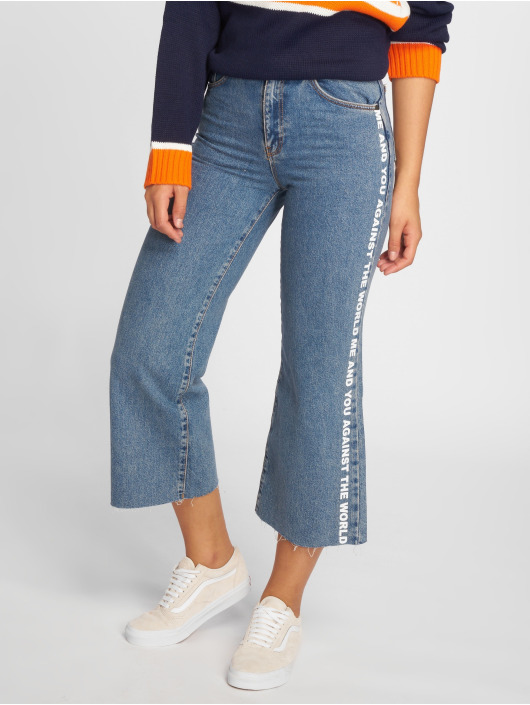 The Ragged Priest High Waisted Jeans Darling Printed blauw