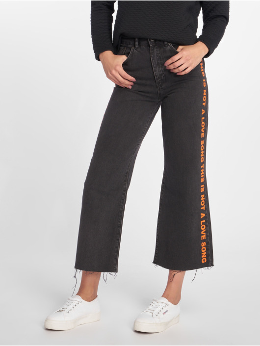 The Ragged Priest Jean taille haute Melody Printed noir