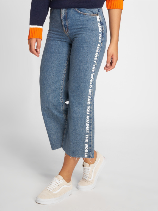 The Ragged Priest Jeans de cintura alta Darling Printed azul