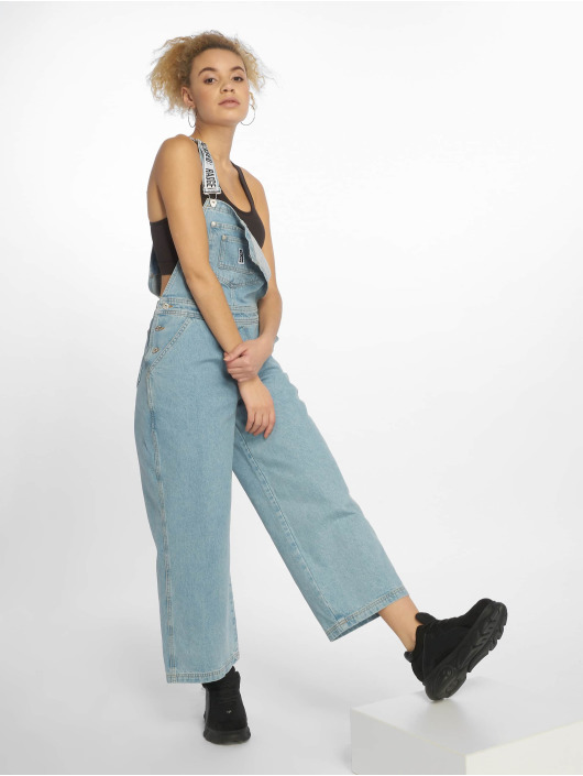 The Ragged Priest Nohavice na traky Relaxed Fit Dungarees modrá