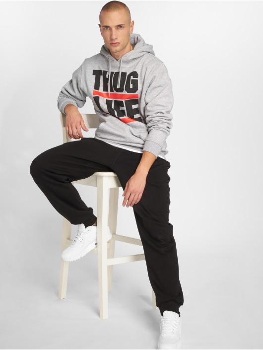 Thug Life Basic Hoody Basic Block Logo grau