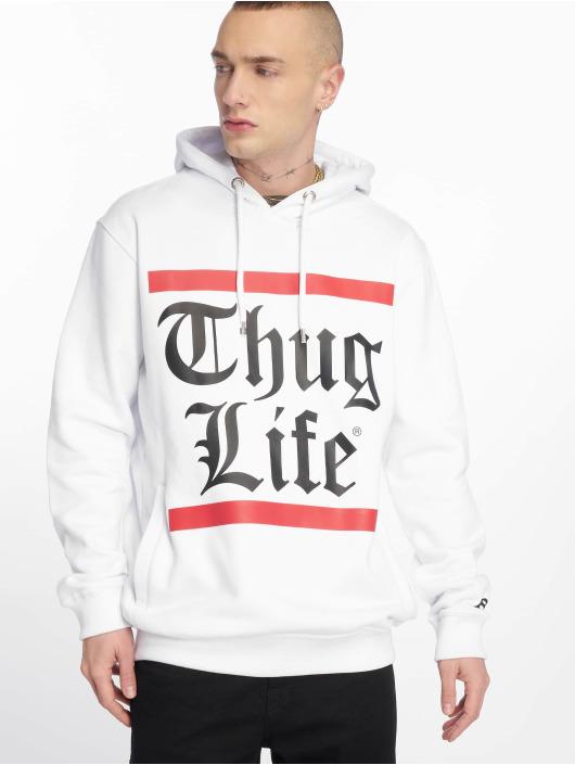 Thug Life Bluzy z kapturem B.Gothic bialy