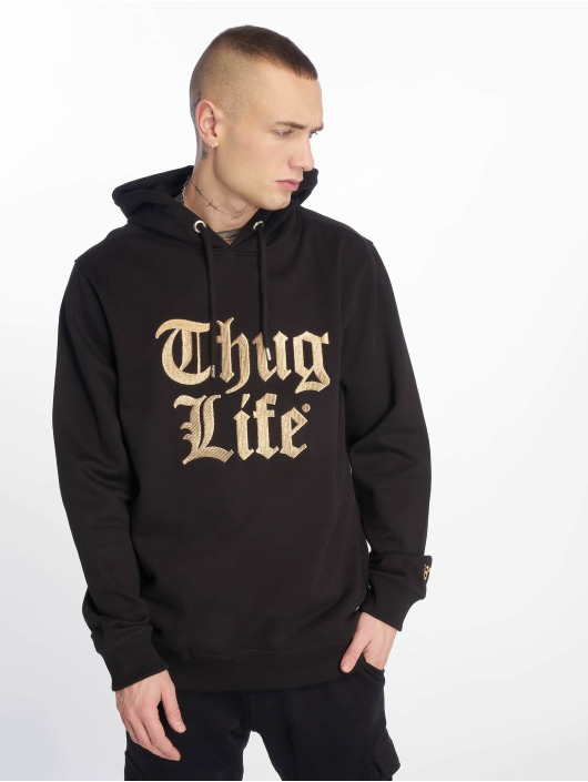 Thug Life Bluzy z kapturem Tight czarny