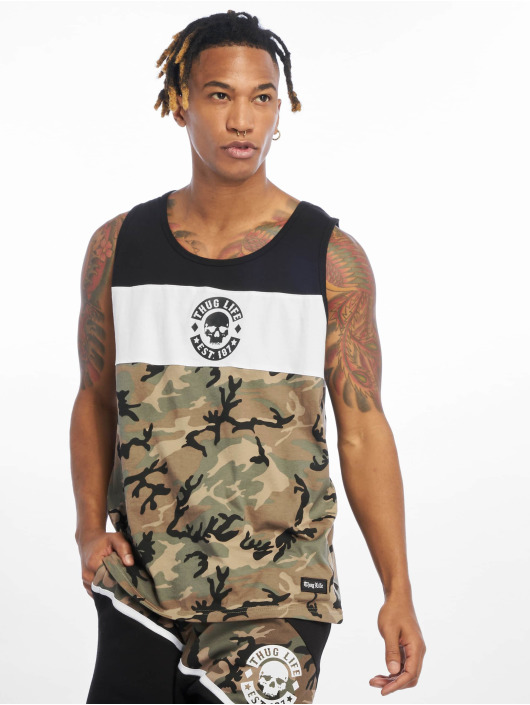 Thug Life Débardeur Lion camouflage