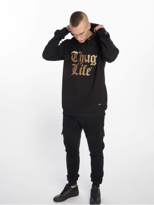 Thug Life Hoodie Tight black
