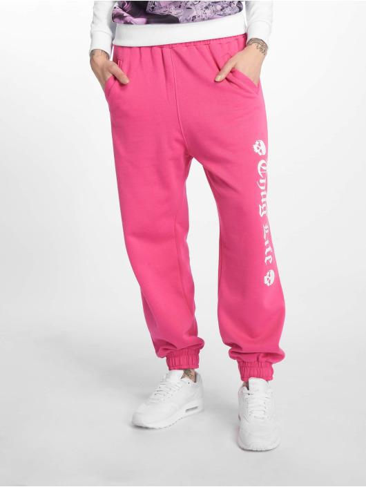 Thug Life Jogginghose Grea pink