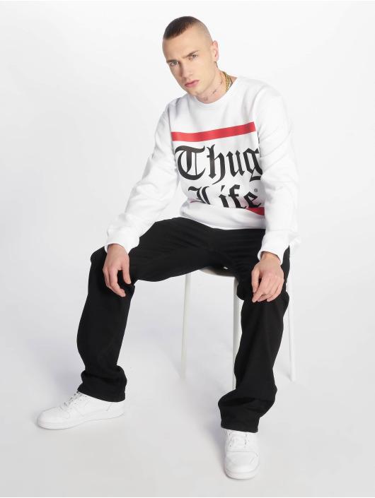 Thug Life Jumper B.Gothic white