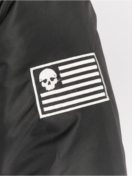 Thug Life Manteau hiver Divers noir