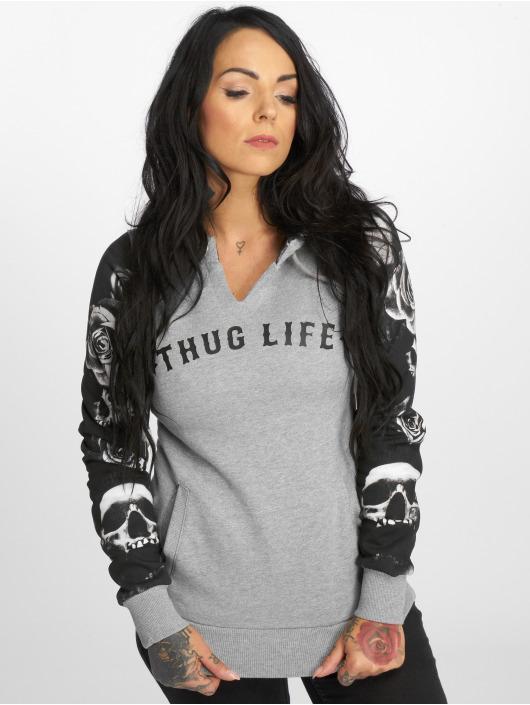 Thug Life Mikiny Skullpattern šedá