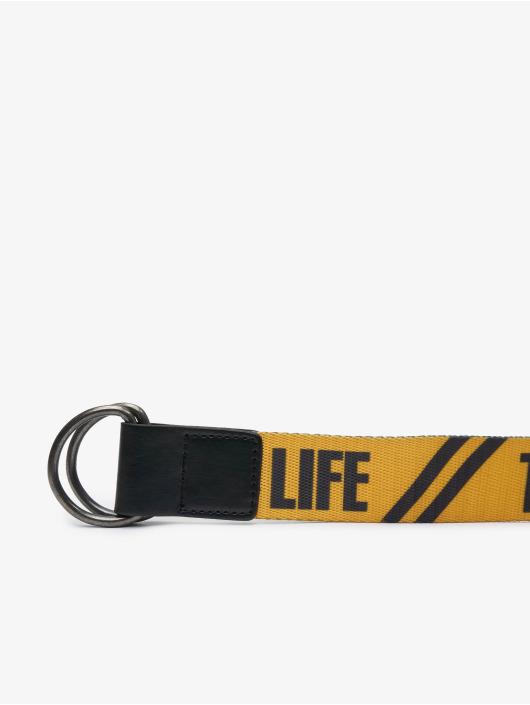 Thug Life riem Attention geel