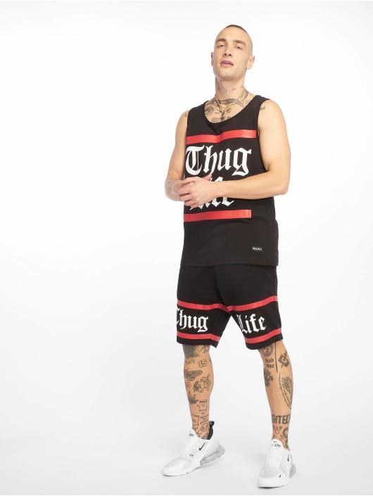 Thug Life Shorts Brick schwarz