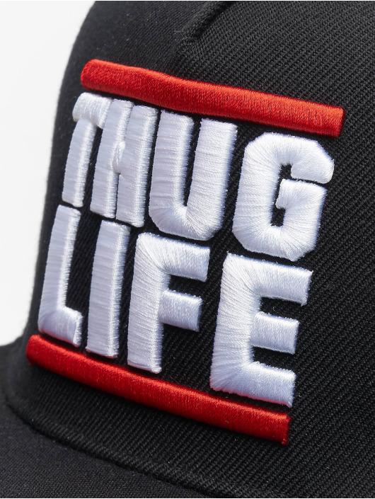 Thug Life Snapback Cap Creutz schwarz