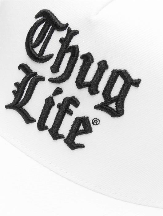 Thug Life Snapback Cap Nico white
