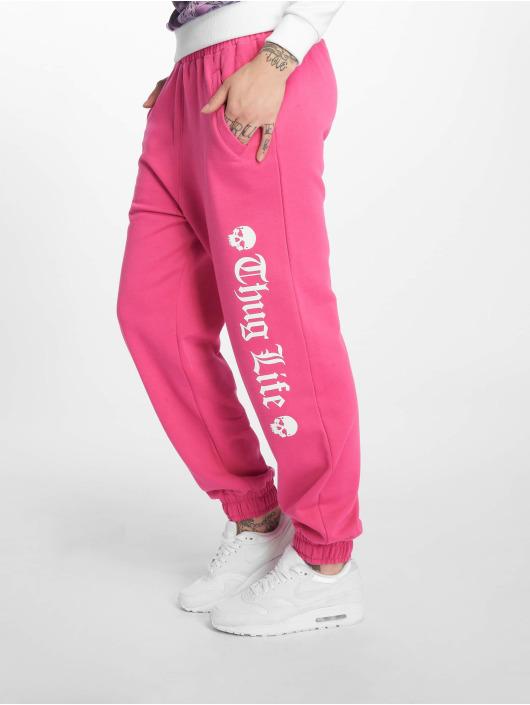 Thug Life Sweat Pant Grea pink