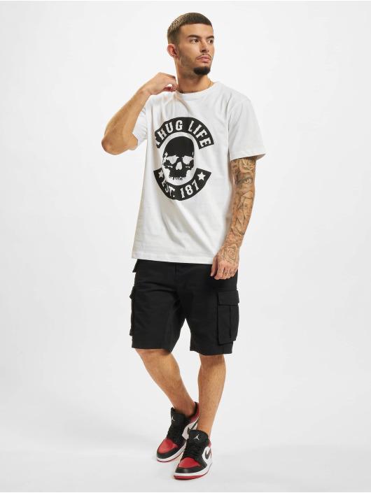 Thug Life T-Shirt B.Skull weiß