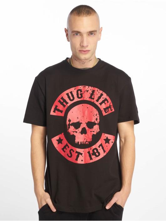 Thug Life T-skjorter B.Distress svart
