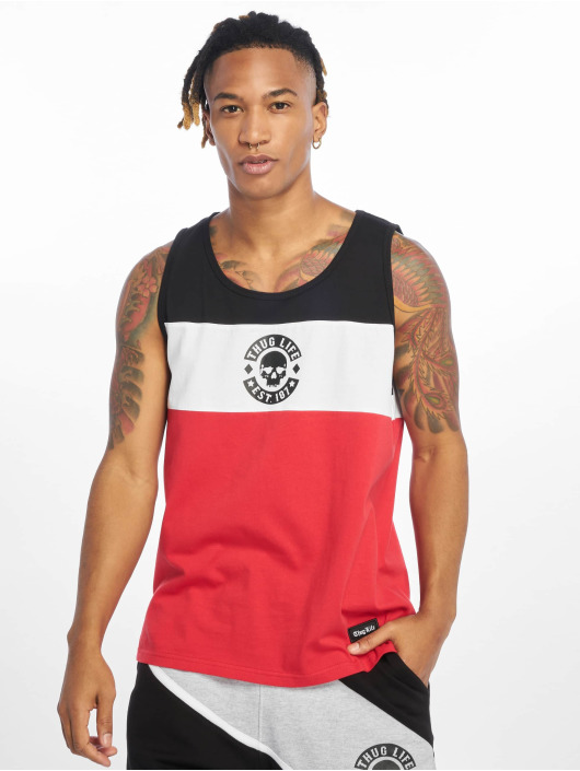 Thug Life Tank Tops Lion èervená