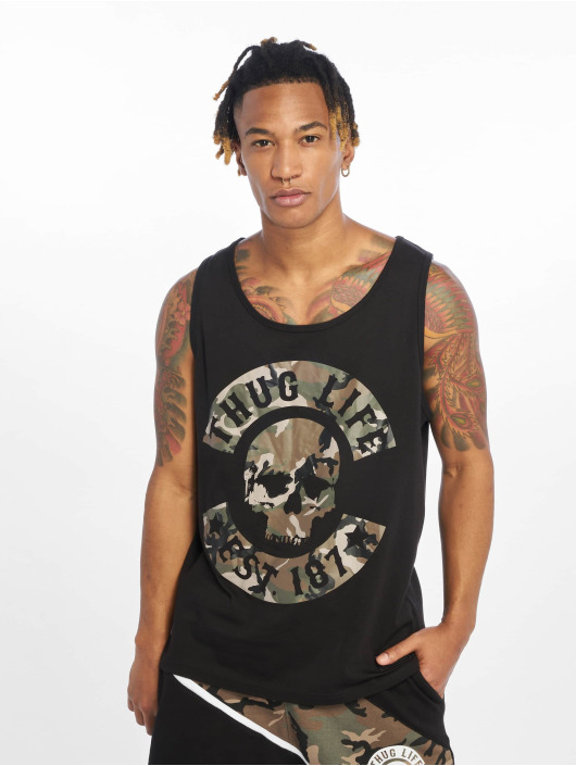 Thug Life Tank Tops Teris black