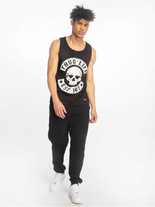 Thug Life Tank Tops B.Distress black