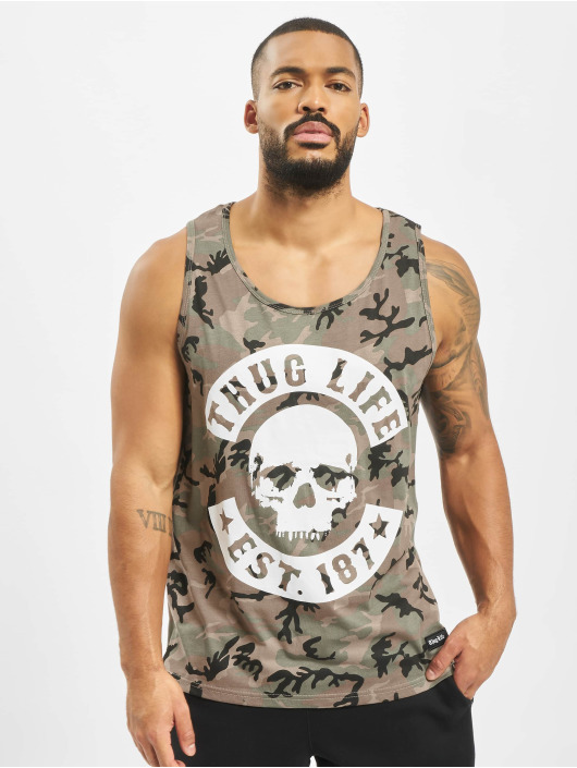 Thug Life Tank Tops Teris camouflage