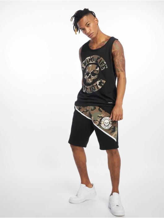 Thug Life Tank Tops Teris czarny