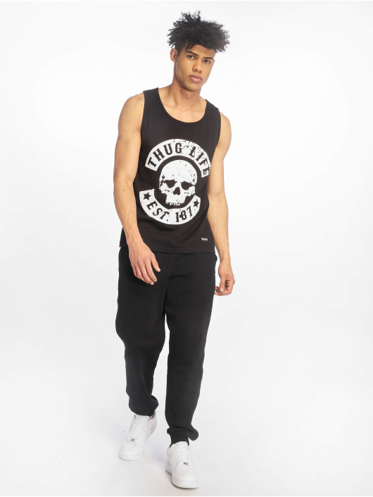 Thug Life Tank Tops B.Distress czarny
