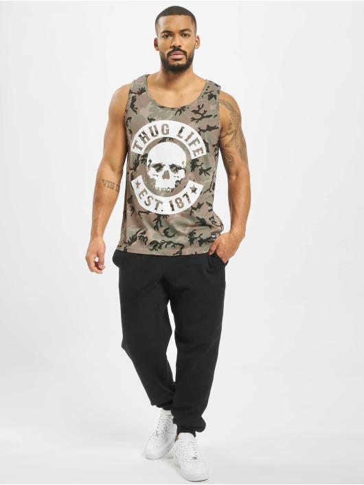Thug Life Tank Tops Teris kamuflasje