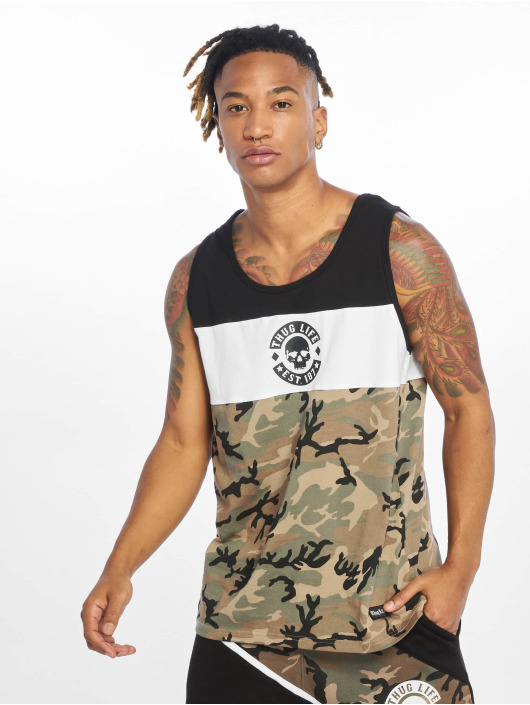 Thug Life Tank Tops Lion mimetico