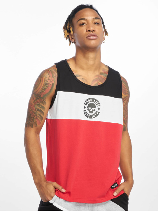 Thug Life Tank Tops Lion red