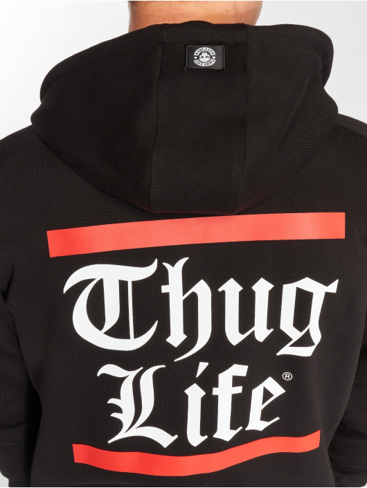 Thug Life Zip Hoodie B.Gothic black