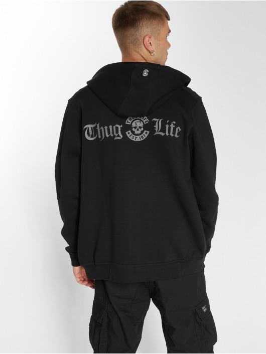 Thug Life Zip Hoodie B.Distress black