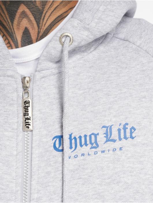 Thug Life Zip Hoodie Freeze grau