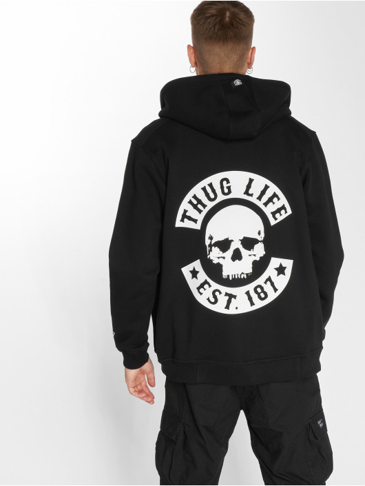 Thug Life Zip Hoodie B.Skull sort