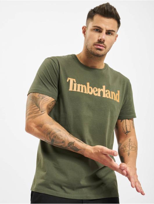 Timberland Футболка Ss Kr Linear Regular зеленый