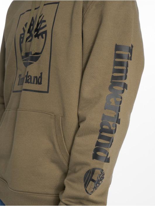 Timberland Bluzy z kapturem SLS Seasonal Logo oliwkowy