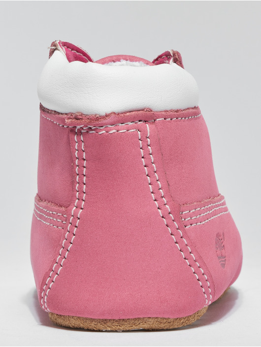 Timberland Boots Crib Booties With Hat pink