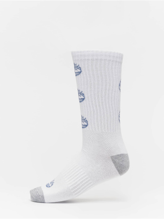 Timberland Calcetines Logo Pattern 2 Pack blanco