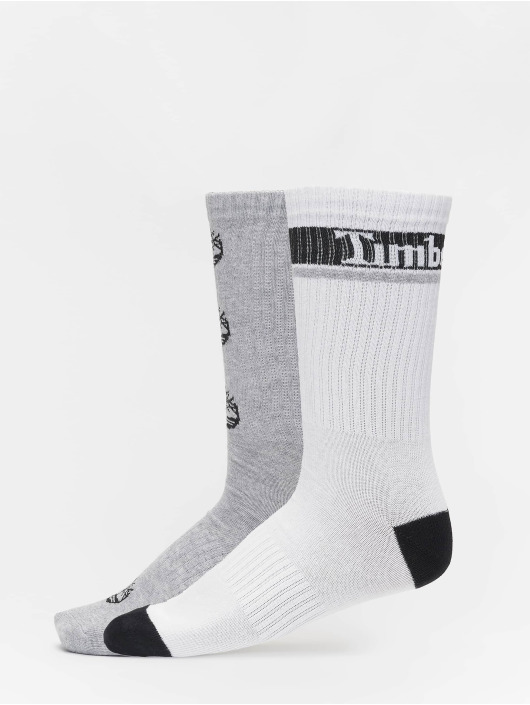 Timberland Calcetines Logo Pattern 2 Pack gris