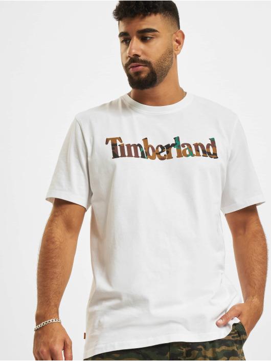 Timberland Camiseta SS Camo Linear blanco