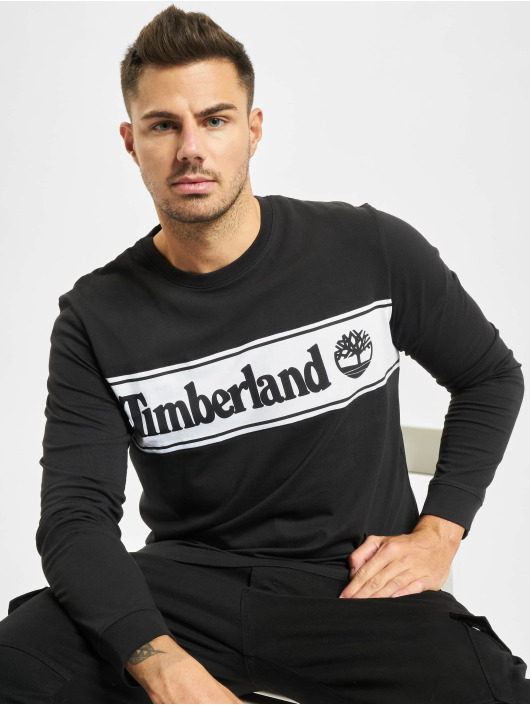 Timberland Longsleeves Ss Cut & Sew Lin Logo čern