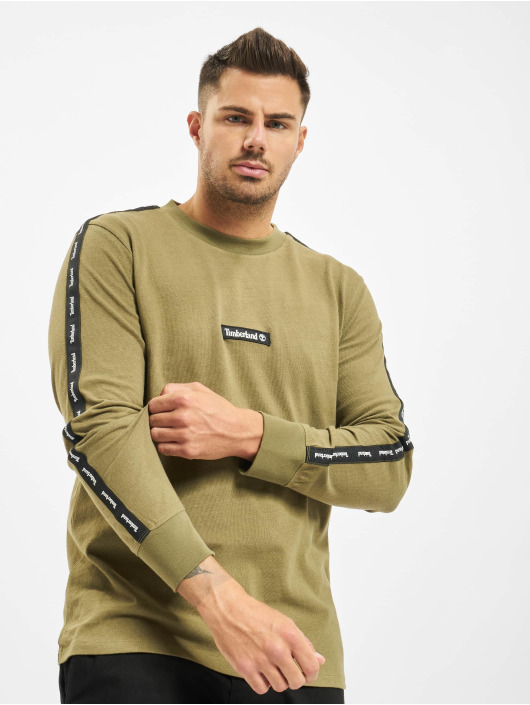 Timberland Longsleeves Ycc Ls Sls Tape olivový