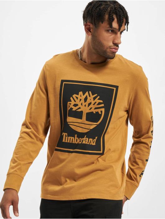 Timberland Maglietta a manica lunga Stack Logo beige