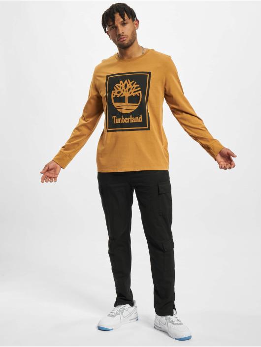 Timberland Pitkähihaiset paidat Stack Logo beige