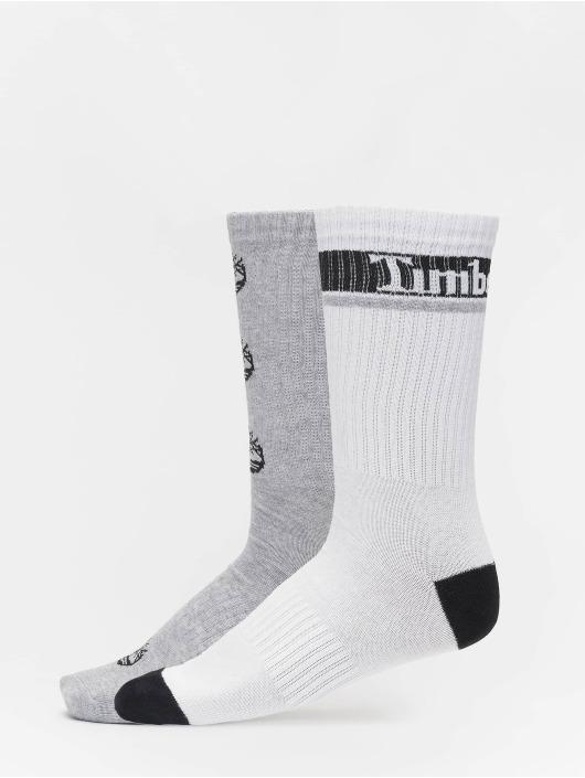 Timberland Ponožky Logo Pattern 2 Pack šedá