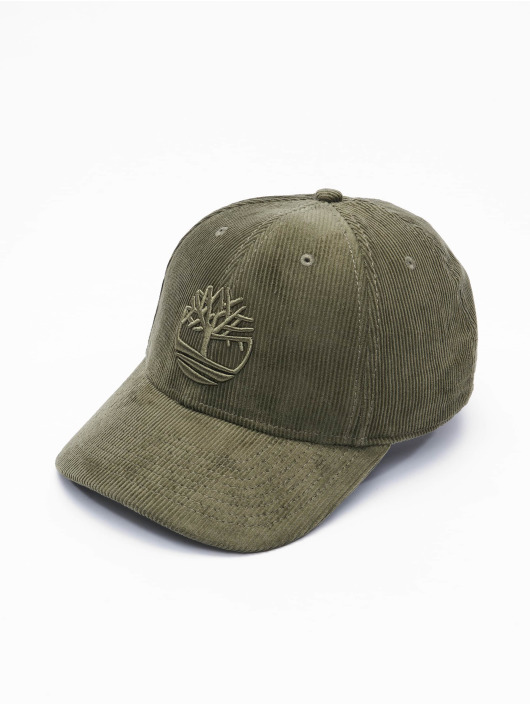 Timberland Snapback Caps Corduroy oliven