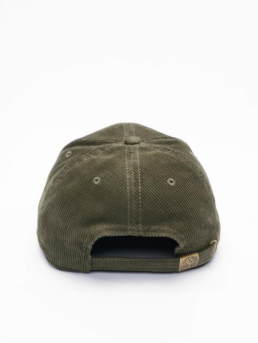 Timberland Snapback Caps Corduroy oliwkowy